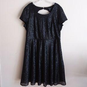 af8a8a10 torrid Dresses | Black Sequin Open Back Skater Dress | Poshmark